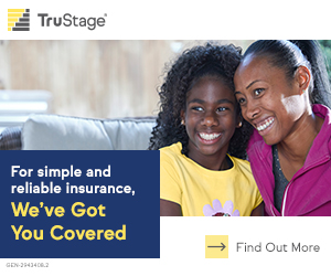 Looking for insurance protection? We've got you covered. Trustage photo of dad and daughter camping.