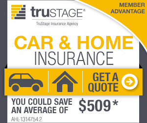 TruStage Car and Home insurance. You could save an average of $519.52