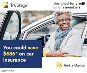 You could save up to $519.52* on car insurance.  Exclusively for credit union members.  Get a quote.