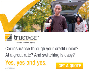 Trustage Insurance.Insurance through your credit union? At a great rate? Get a quote.